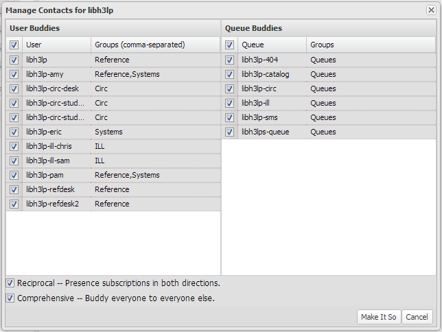 manage contacts screenshot showing all the options